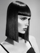 Medium Black Hairstyle by KJM Salons