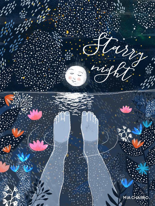 Magical nightat the sea watching the stars. * Una noche mágica en el mar contemplando las estrellas