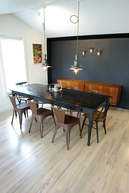 wood & faulk (love the black wall!)