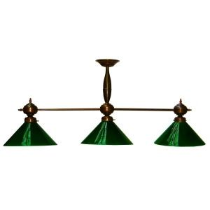 Manufactured In Ireland, This Traditional Style Brass Triple Pool Table  Pendant Light With Green Glass Is Reminiscent Of A Traditional Antique Pool  Table ...