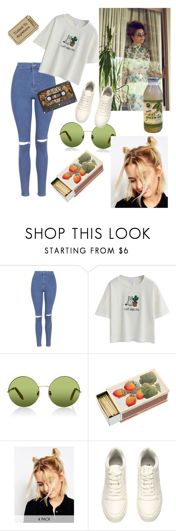 """Hermit the frog"" by vanessaserna20 ❤ liked on Polyvore featuring Topshop, Victoria, Victoria Beckham, Shandell's, ASOS and H&M"