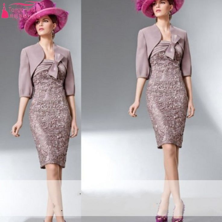 Find More Evening Dresses Information about Real Photos Mother Of The Bride Dress Half Sleeves Lace Bow Pleated Knee Length Mother Groom Dress Plus Size Mum Gown,High Quality dress ankle boots for women,China dress make your own Suppliers, Cheap gown silk from Tanya Bridal Store on Aliexpress.com