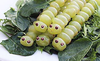 Party Food: These cute little green grape caterpillars tick all the boxes when it comes to healthy and easy. Pop them into lunch boxes, serve them up at parties or keep them in the fridge for a tasty snack.