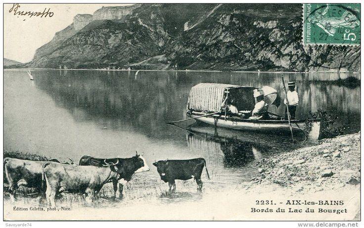 Lac du Bourget,  barque cabanée