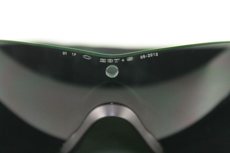 oakley sunglasses z87  z87 stamp is found on the oakley m frame 3.0 lens.