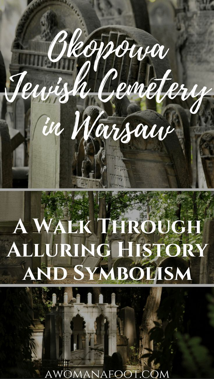 Discover the History and Symbolism of the Okopowa Jewish Cemetery in Warsaw. awomanafoot.com | #Warsaw | #Poland | #JewishHeritage | #WhattoseeWarsaw | #cityguide