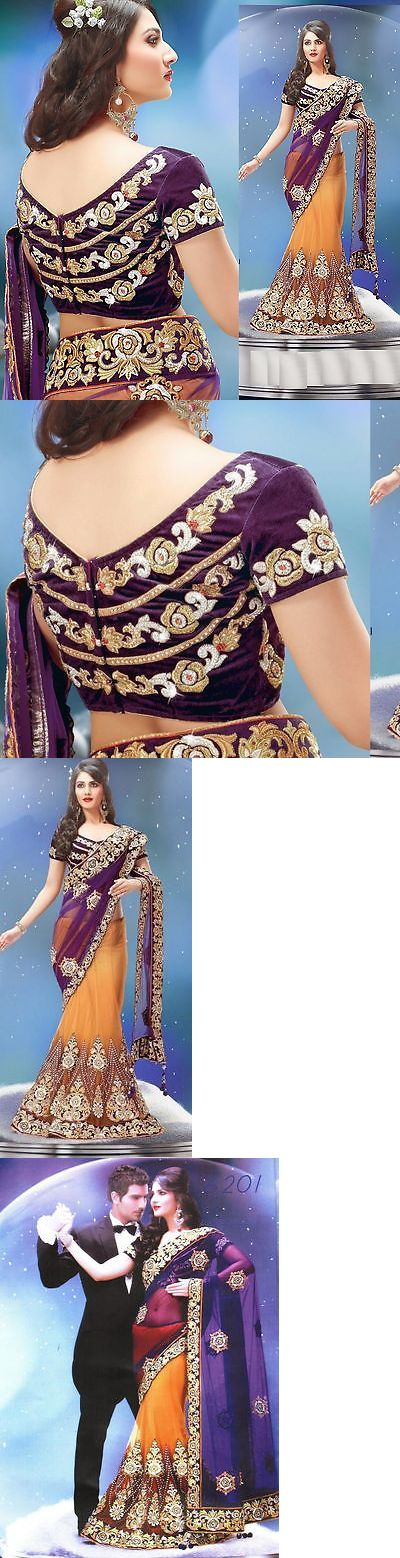 Sari Saree 155250: Indian Designer Embroidery Wedding Party Women Lehenga Saree Sari + Blouse Piece -> BUY IT NOW ONLY: $150 on eBay!