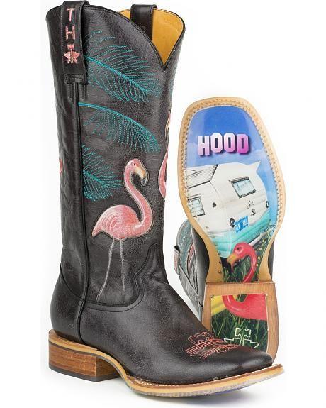 Tin Haul Women's Trailerhood Cowgirl Boots - Square Toe