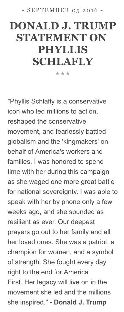 "(14) News about ""Phyllis Schlafly"" on Twitter"