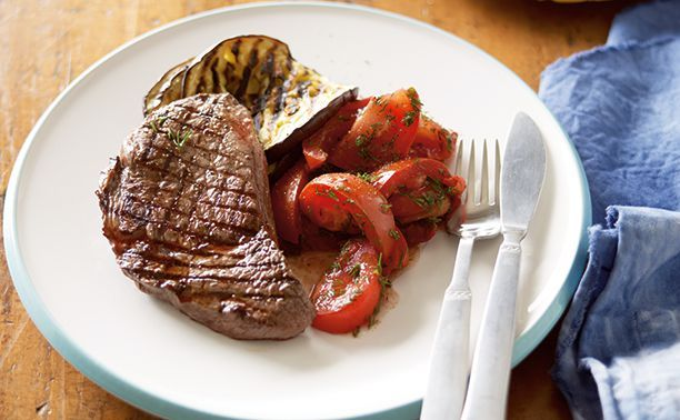 Steak With Tomato And Tzatziki Recipe | CSIRO Total Wellbeing Diet