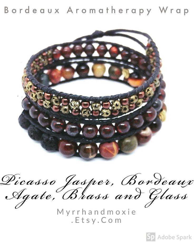 Earth Tones Brass and Stone Picasso Jasper Wrap ...
