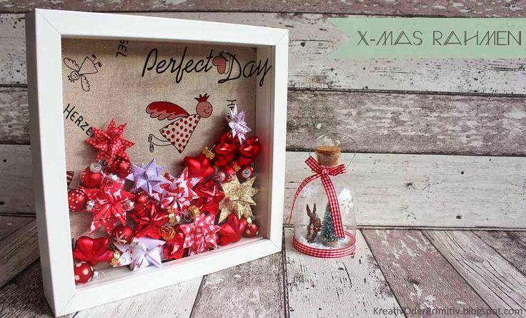 Kreativ oder Primitiv?: Schneller Weihnachtsrahmen Dekoration Deko DIY Ikea Ribba