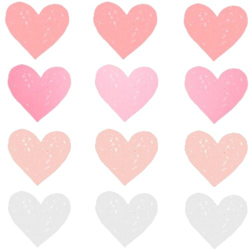 transparent pink hearts tumblr