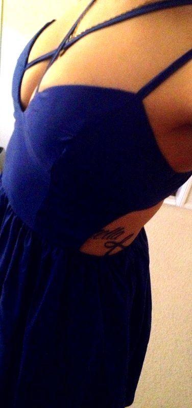 Birthday dress and tattoo