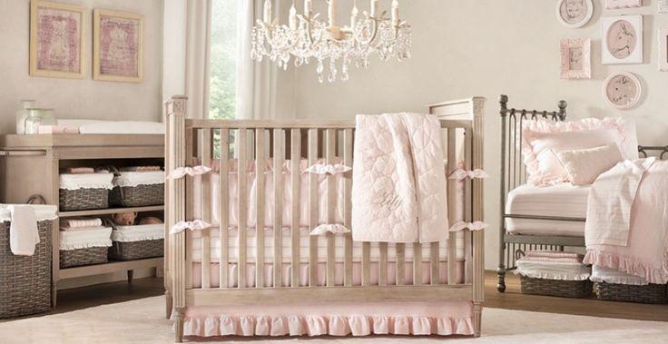 Soft Modern Baby Girl Room Design