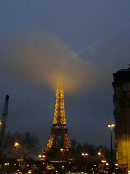A movable feast - Tour Eiffel, December 2012 #Fog #eiifeltower #paris