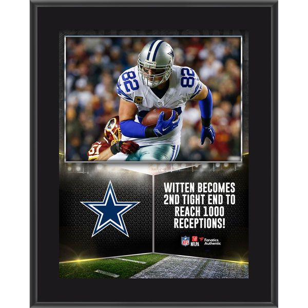 Jason Witten Dallas Cowboys Fanatics Authentic 10.5'' x 13'' Sublimated 1000 Receptions Plaque - $29.99