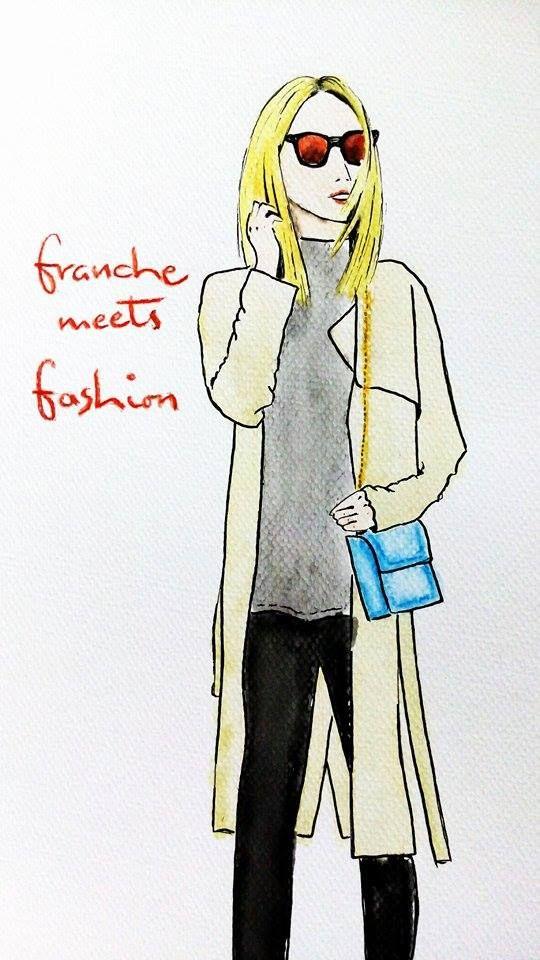 Blonde @Karolina from franchemeetsfashion.blogspot.cz #bloggerdrawing