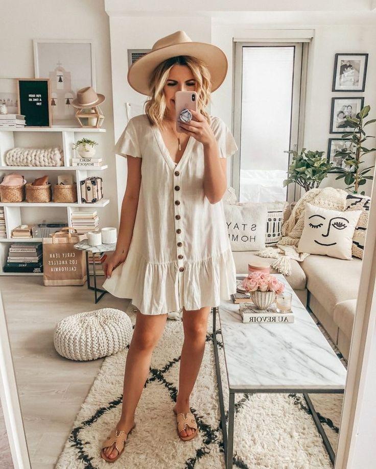 super trendy white button down dress  – Michelle
