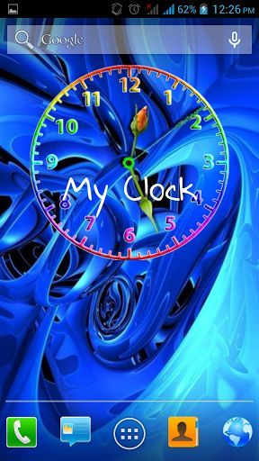 Running Clock 3D Screensaver - Download
