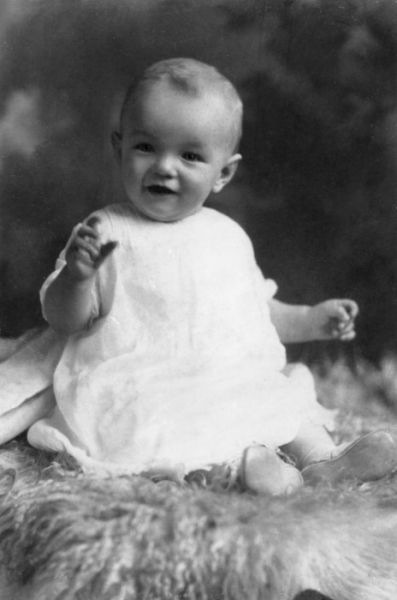 Baby photo of MARILYN MONROE…Born Norma Jeane Baker, she changed her name when she launched her acting career.