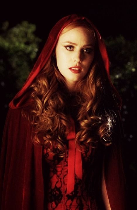 "Not exactly Fairytale category, but this picture fits so well. Red Riding Hood / Jessica moment from ""True Blood"""