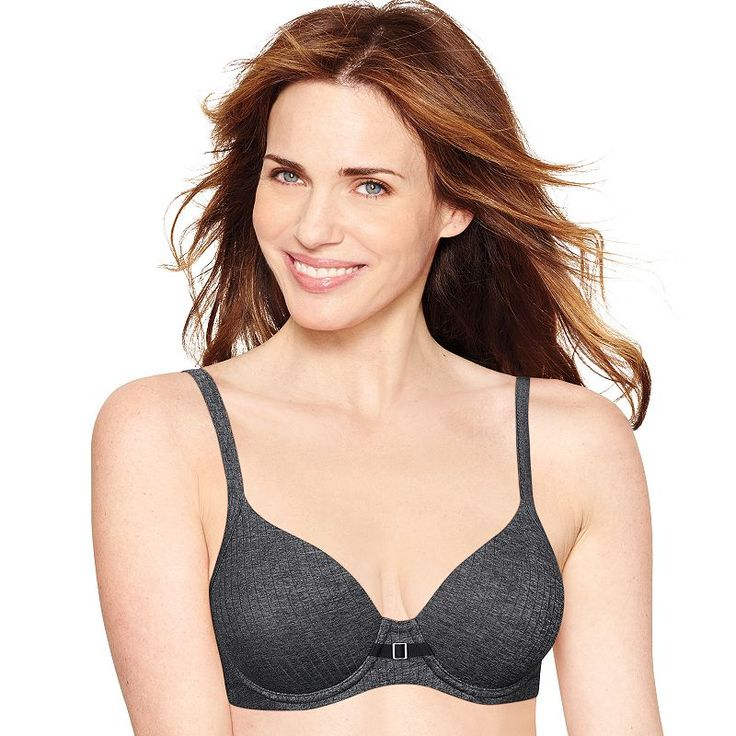 Plus Size Hanes Ultimate Bras: Soft Natural Lift T-Shirt Bra DHHU20, Women's, Size: 40 D, Oxford