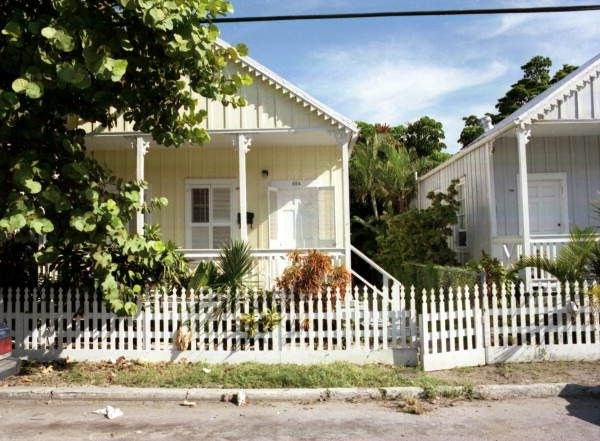 "Florida Memory - ""Shotgun"" style conch houses on Olivia Street, Key West, Florida."