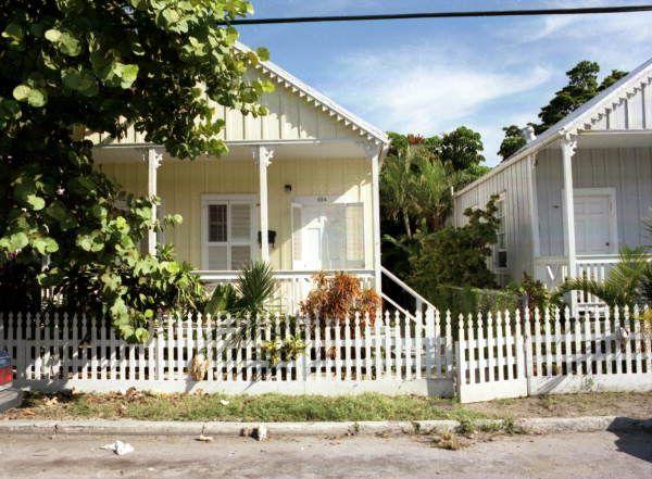 "Florida Memory - ""Shotgun"" style conch houses on Olivia Street, Key West, Florida."
