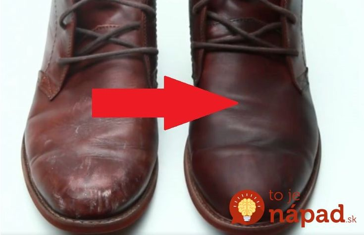 Perfektný nápad, ako zachrániť kožené topánky!