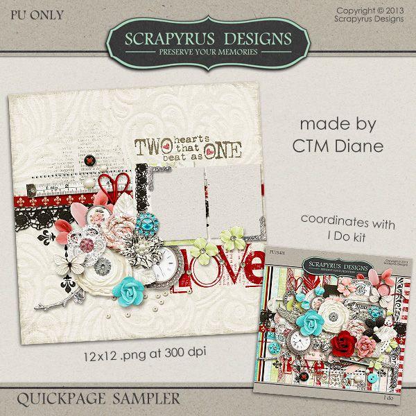 "Scrapyrus Designs: ""I Do"" ... FREE Quick Page"