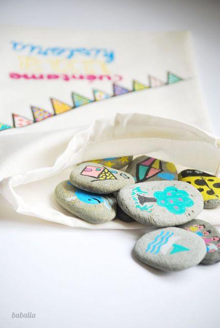 juego creativo con piedras - cuéntame una historia