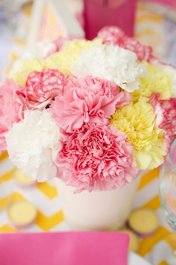 Easy pink and yellow bridal shower ideas you can recreate at home on Showerbelle.com