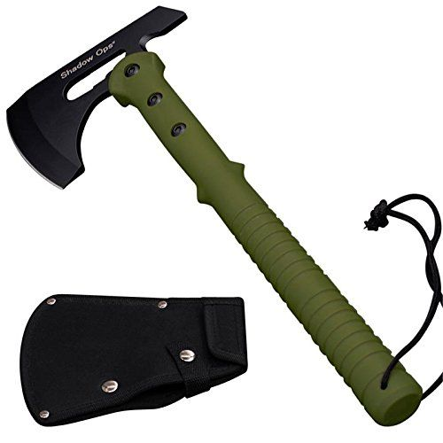 16 Shadow Ops Tactical Axe with Green Handle and Includes Case -- For more information, visit image link.(This is an Amazon affiliate link and I receive a commission for the sales)