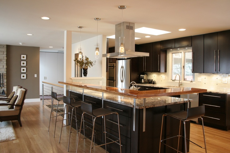 Mid continent cabinets rohe door style espresso finish - Open kitchen floor plans with islands ...