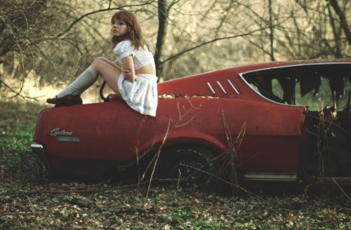 old cars + woods = my fave. - from designspiration