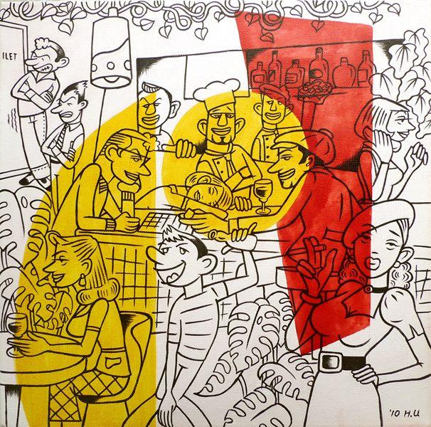 """""""CACCIATORA 20TH"""" acrylic on canvas 2010 acrylic on canvas"""