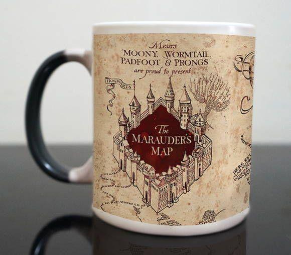 Canecas Mágicas Personalizadas do Harry Potter - Mapa do Maroto!