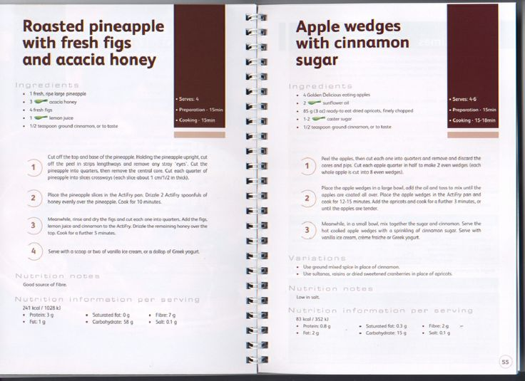 Tefal ActiFry 30 Recipes | apple wedges with cinnamon sugar