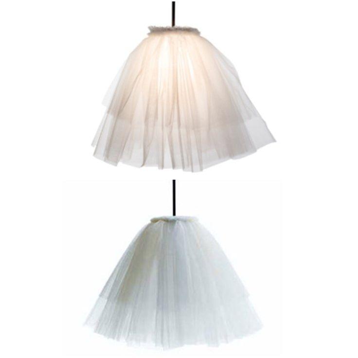 Frick blogg: Återbruka gamla spetsgardiner till en romantisk lampa