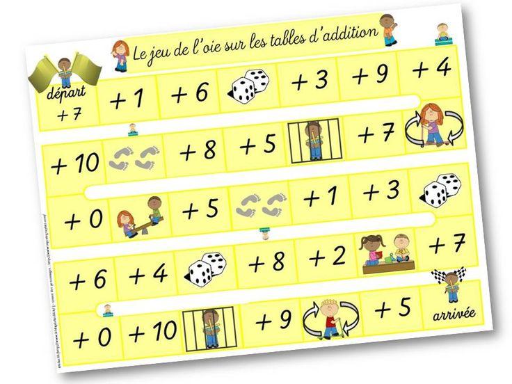 Les Tables D 39 Addition Jeu De L 39 Oie Apc Et Jeux Pinterest Tables