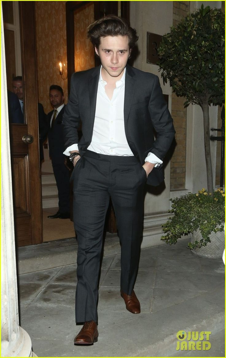 david beckham son brooklyn suit up for dinner event in london 01