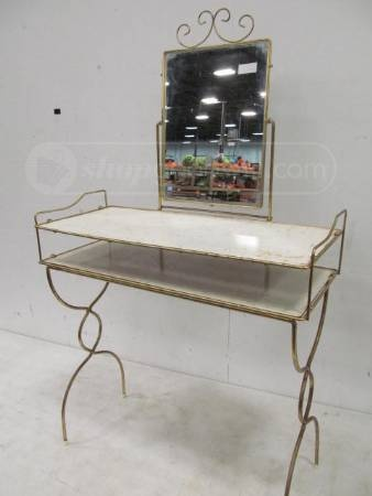 Shopgoodwill Com Vintage Mid Century Metal Vanity W
