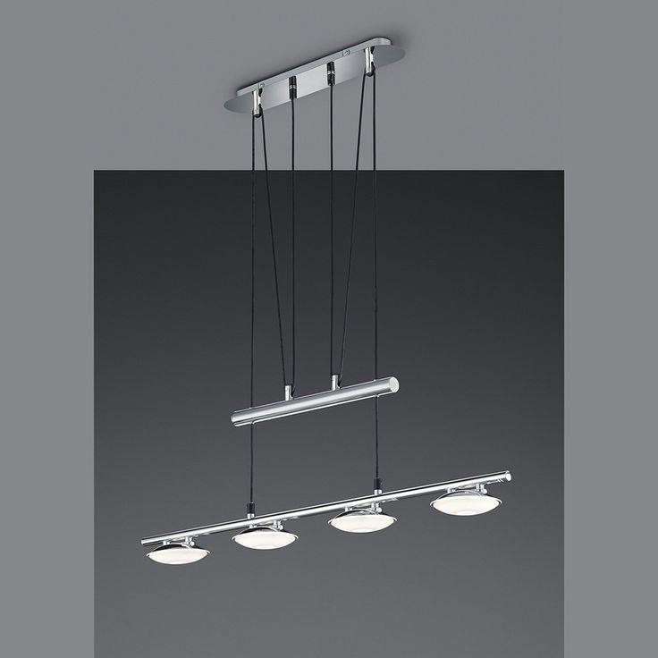 LED-JoJo-Pendelleuchte mit 4 runden Strahlern höhenverstellbar