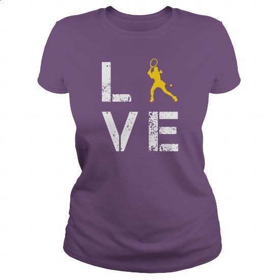 Love Tennis - #fleece hoodie #shirt designer. MORE INFO => https://www.sunfrog.com/Hobby/Love-Tennis-123556119-Purple-Ladies.html?60505