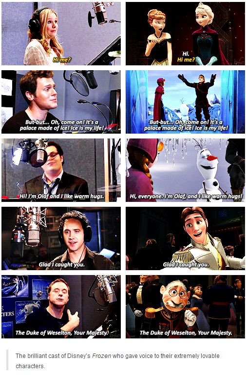The voice actors of Frozen [gifset]