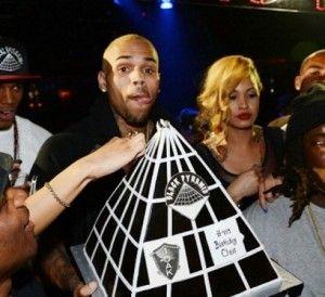 (photo) Chris Brown Illuminati 24th Birthday Cake - Celebrities - Nigeria