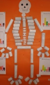 Skeleton -- Found what I'm doing with all the extra toilet paper rolls!! don't judge...