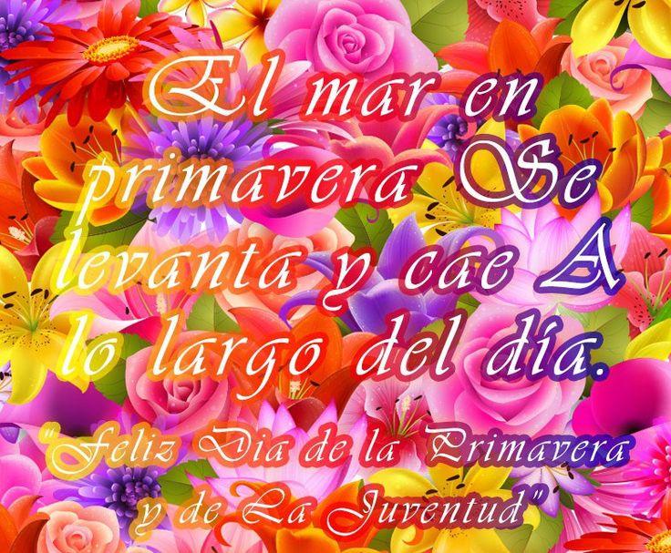 Imagenes De Flores Con Mensajes Para EL Dia De La Primavera