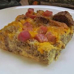 Cheese, Overnight Ham And Cheese Omelet, Layers Of Ham, Eggs, Cheese ...